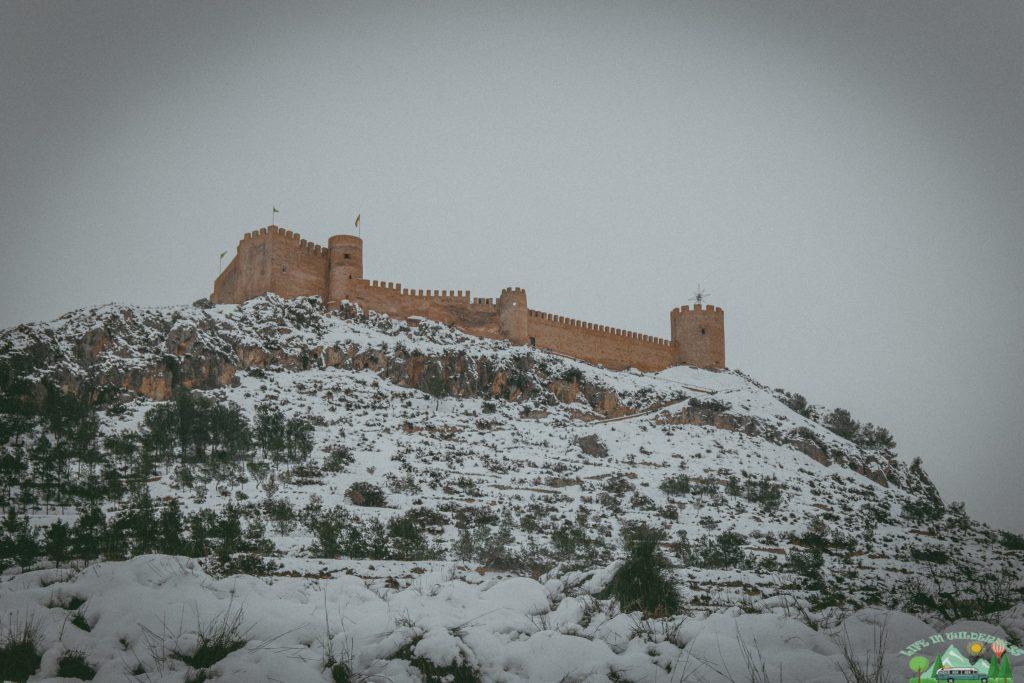 Castillo de Castalla nevado